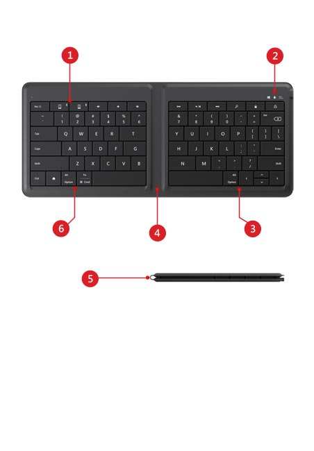 Universal foldable keyboard and stylus features