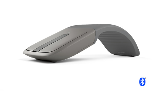 Microsoft Arc Touch Bluetooth Mouse in gray
