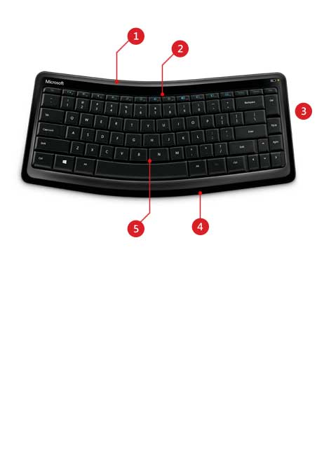 Sculpt Mobile Keyboard product features