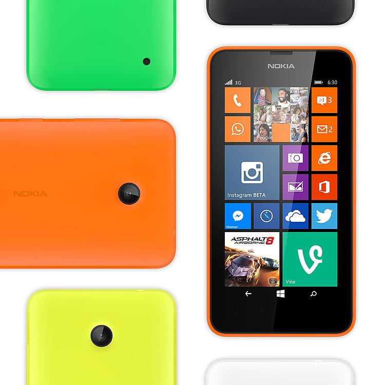 Coloris du Nokia Lumia 630