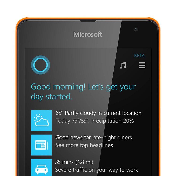 Microsoft Lumia 535 Cortana