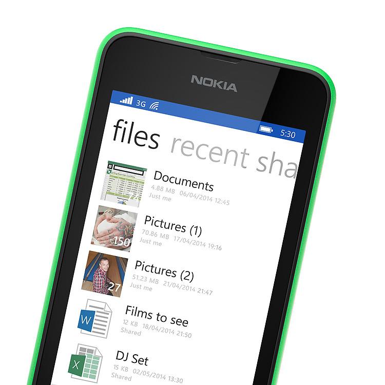 Nokia Lumia 530 OneDrive