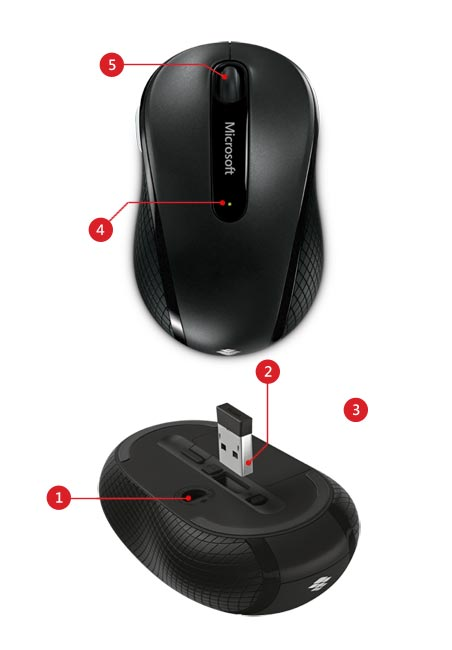 Microsoft Wireless Mobile Mouse 4000 Features