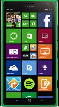 Nokia Lumia1520 Green front