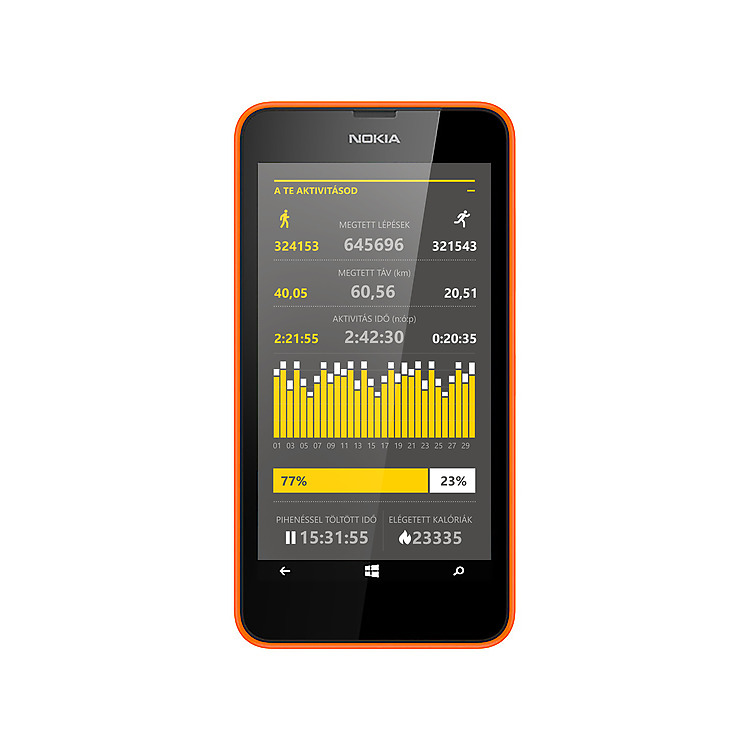 Nokia Lumia 630 Dual SIM Life Tracker Pro+ App
