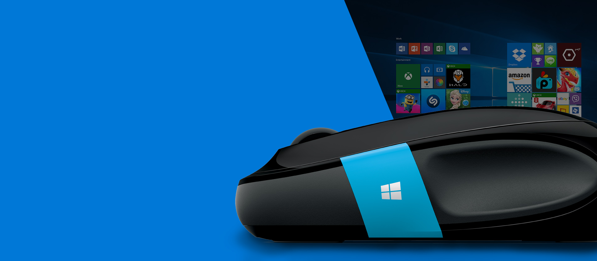 Promotional image of Microsoft mouse and apps