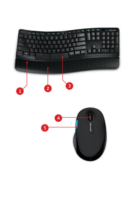 Microsoft Sculpt Comfort Keyboard and Mouse Desktop features