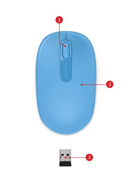 wireless mobile mouse-1850 description