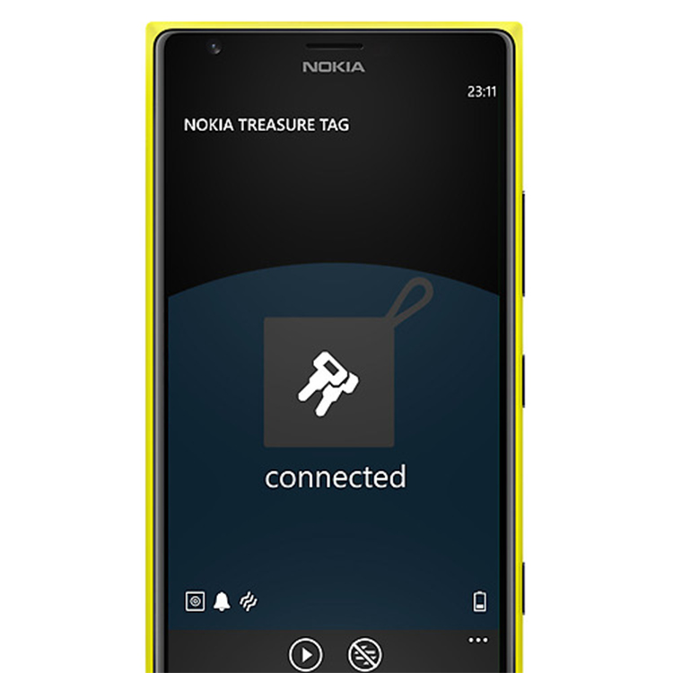 Nokia Lumia 1020 avec l'application Treasure Tag