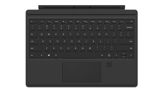 Microsoft Surface Pro 4 Type Cover with Fingerprint ID in Black