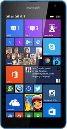 Lumia 535 DS Blue