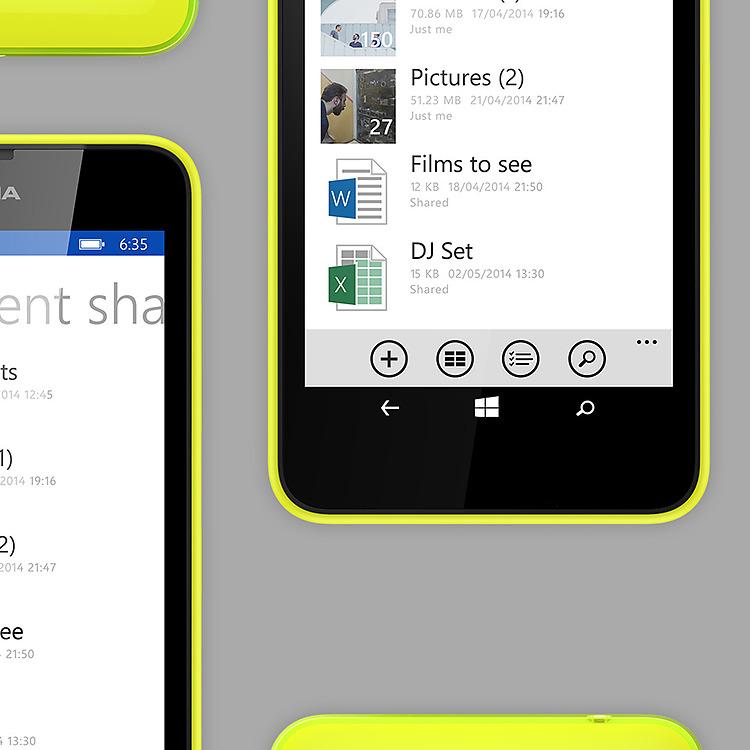 Lumia 635 OneDrive