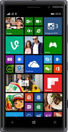 Nokia 830-BLACK-FRONT