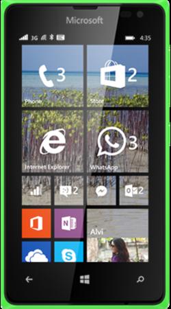 Lumia 435 green