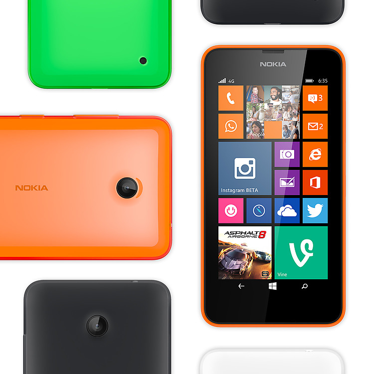 Lumia 635 individuell konfigurierbar