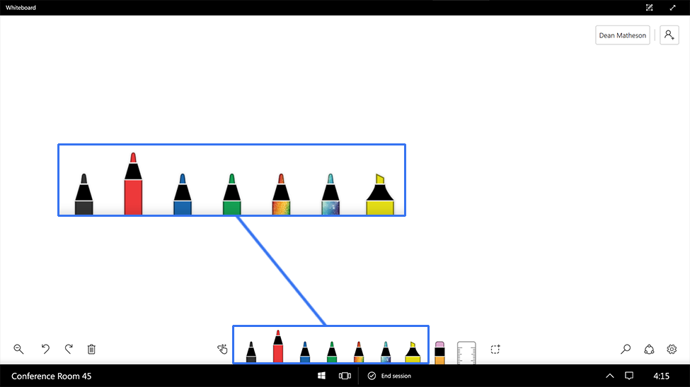 Image of whiteboard color picker