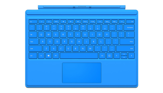 Microsoft Surface Pro 4 Type Cover in Cyan Blue