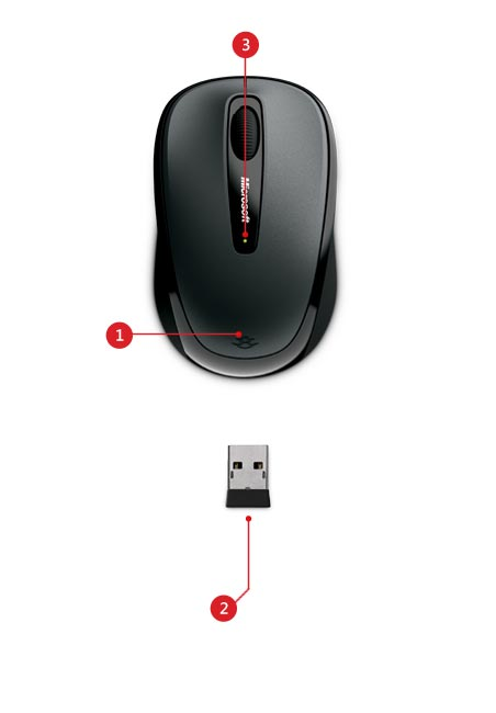 Wireless mobile mouse 3500 features