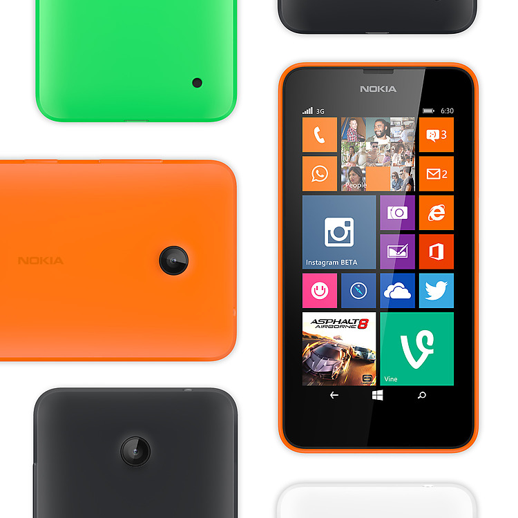 Colores de Nokia Lumia 630