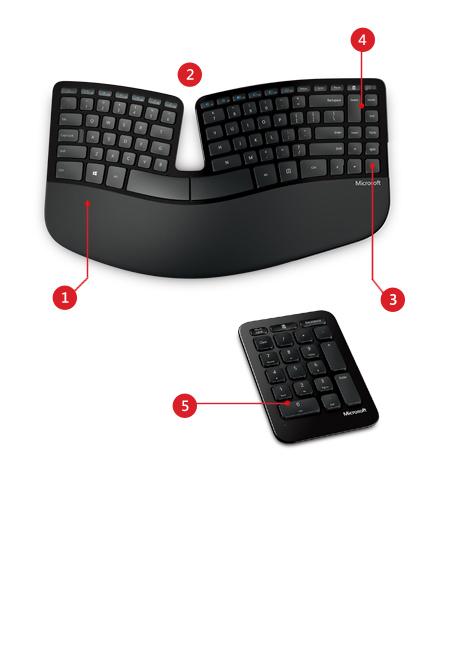 Sculpt Ergonomic keyboard product features