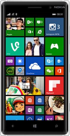 Nokia 830-SILVER-GREEN-FRONT
