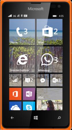 Lumia 435 orange