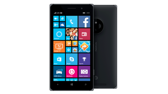 Lumia 830 as seen from the front and the back