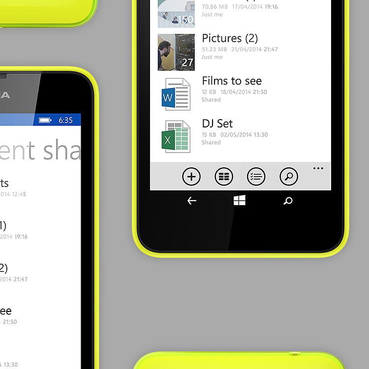 Nokia Lumia 630 – OneDrive