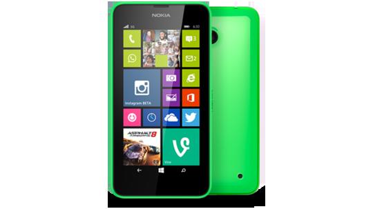 Lumia 630 Double SIM Vert