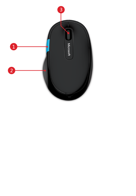 Sculpt comfort mouse features