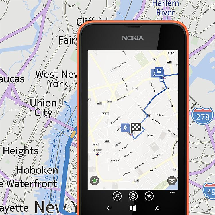 Nokia Lumia 530 navigation